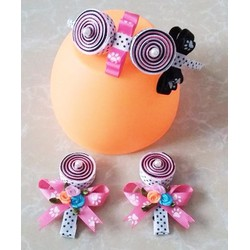 XK112 - Bộ cài tóc handmade kẹo ngọt