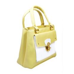 Túi xách nhập khẩu - Túi xách nắp gập vàng