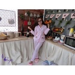 Set bộ pijama thêu gấu đẹp siêu đẹp- Hàng nhập