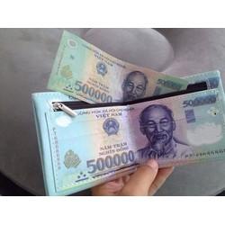 Ví Đựng Tiền 3 Ngăn Hình 500 Ngàn Giá Rẻ