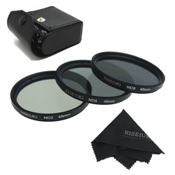 Bộ 3 filter Rise UK size 58 ND+2,+4,+8 kèm hộp da đựng
