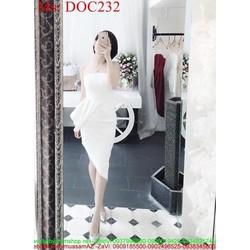 Đầm body cúp ngực thiết kế xẻ chéo sành điệu sang trọng DOC232