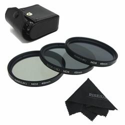 Bộ 3 filter Rise UK size 77 ND+2,+4,+8 kèm hộp da đựng