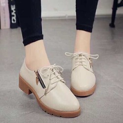 Giay boot cột dây