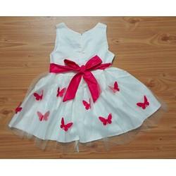Đầm voan bướm cực xinh, đẹp nhất, chất nhất may ba lớp Kate, phi, voan