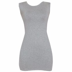 Áo váy đầm thun nữ dáng ôm form dài sát nách ZENKO CS4 DAM 0065 G