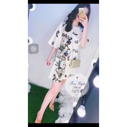 Đầm suông in hoa hàng thiết kế!