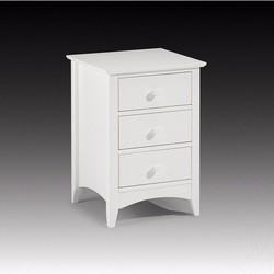 Tủ đầu giường gỗ sồi sơn trắng - Gỗ tự nhiên