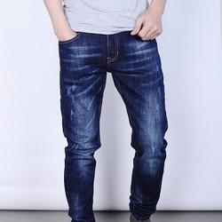 Quần Jeans nam skinny cao cấp xanh đậm wat