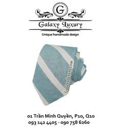 cà vạt Hàn Quốc xanh sọc trắng