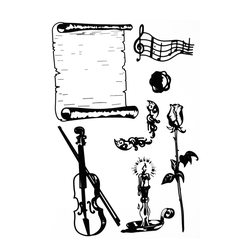 Con dấu Clear Stamp Music