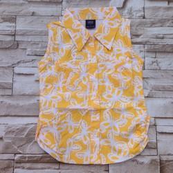 AG067 [10-26kg] áo sơ mi bé gái bướm vàng