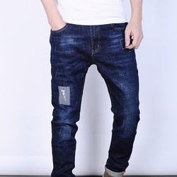 Quần Jeans nam skinny rách bụi LYNE cao cấp