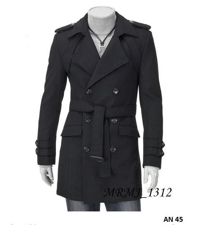 Áo khoác dạ nam lót lông AN45 2