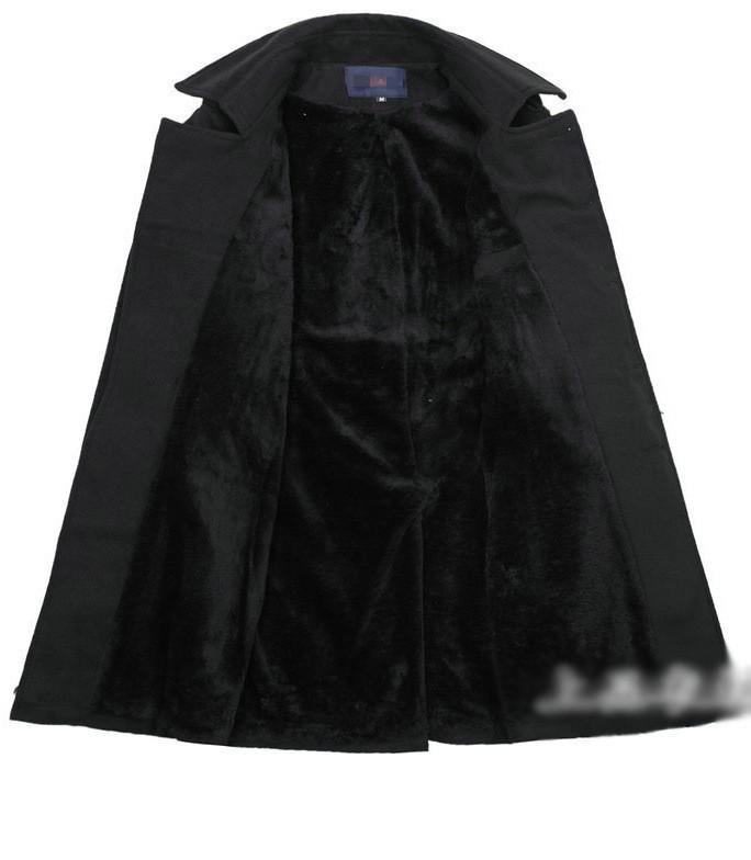 Áo khoác dạ nam lót lông AN45 4
