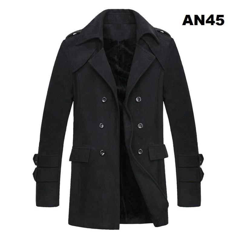 Áo khoác dạ nam lót lông AN45 3