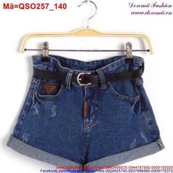 Quần short Jean nữ sắn lai xước nhẹ dịu dàng QSO257