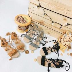 Giày sandal chiến binh cột dây cá tính