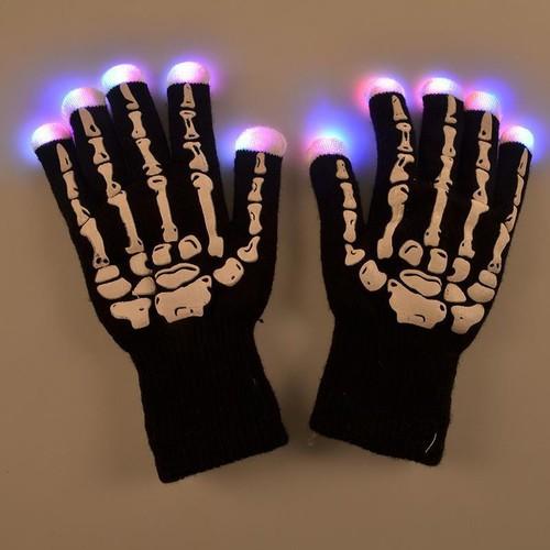 Bộ Găng tay bộ xương phát sáng Led đổi màu