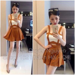 Jumpsuilt short phối viền cut-out