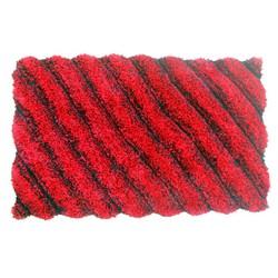 Thảm lông chùi chân - màu đỏ mận