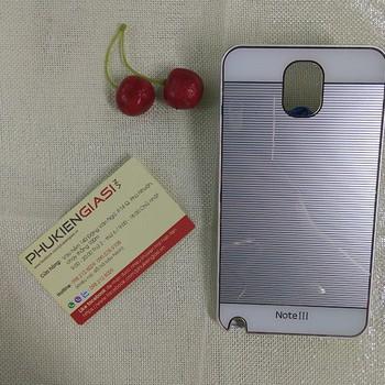 Ốp lưng mica sọc ngang viền nhôm cho Galaxy Note 3