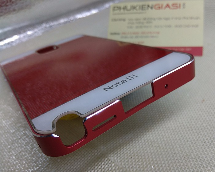 Ốp lưng mica sọc ngang viền nhôm cho Galaxy Note 3 5