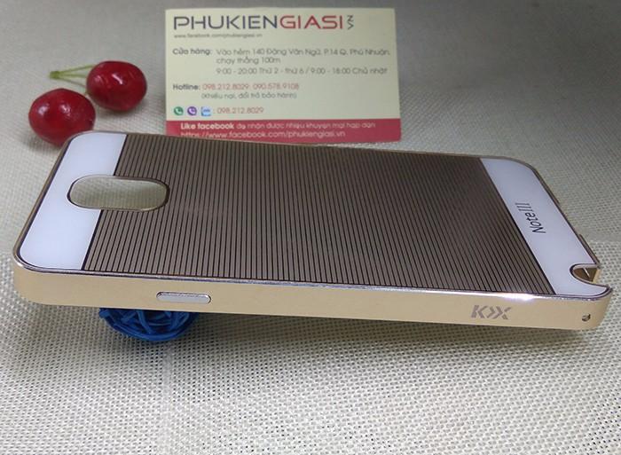 Ốp lưng mica sọc ngang viền nhôm cho Galaxy Note 3 8