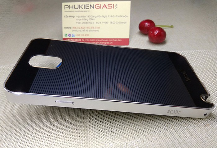 Ốp lưng mica sọc ngang viền nhôm cho Galaxy Note 3 1