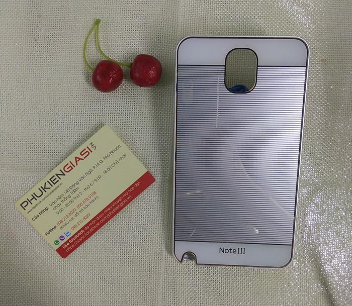 Ốp lưng mica sọc ngang viền nhôm cho Galaxy Note 3 9