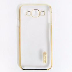 Ốp lưng Samsung-Galaxy E7 hiệu Nillkin viền màu dạng sần
