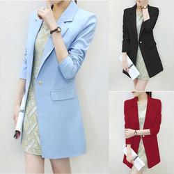 Áo khoác Blazer nữ form dài sành điệu VNK111