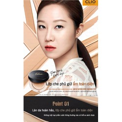 BỘ PHẤN NƯỚC  KILL COVER CLIO LIQUID FOUNWEAR CUSHION SPF 50 PA+++