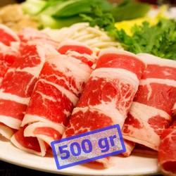 Thịt Ba Rọi Bò Mỹ 500g Cắt Lát 2mm