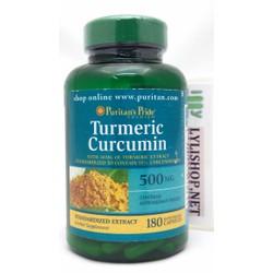 Tinh chất nghệ Puritan Pride Turmeric Curcumin 500 mg chai 180 viên