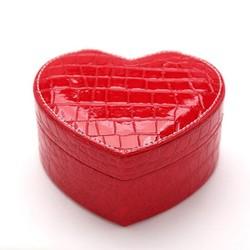 Hộp da đựng đồ trang sức cao cấp hình trái tim