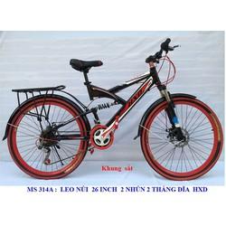 Xe đạp leo núi 26 Inch - 2 thắng đĩa - phuột nhúng giữa