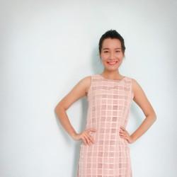 Đầm suôn thái lan màu hồng vải đẹp