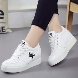 FREE SHIP - Giày sneaker nữ nâng đế cá tính thời trang - SG0328