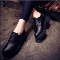 Giày bốt da mềm phong cách hàn