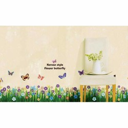 decal dan tuong chan tường hoa