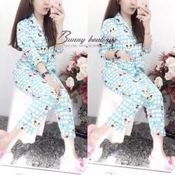 Set bộ ngủ pijama hoạt hình dễ thương - 02115.B