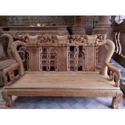 Bàn ghế phòng khách gỗ gõ đỏ