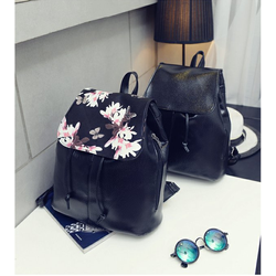 balo nữ thời trang HQ tông đen kết hợp hoạ tiết hoa