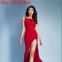 Đầm dạ hội maxi sát nách phối xẻ đùi cao sang trọng sexy DDH466