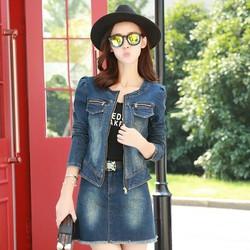 Áo khoác Jean nữ 2 túi