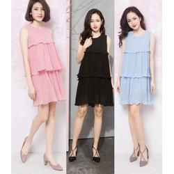 Đầm suông thiết kế 3 tầng đơn giản