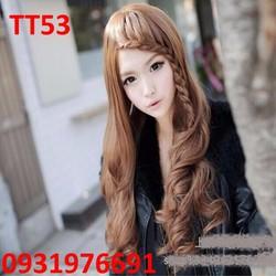 Tóc giả Hàn Quốc tóc mái thắt bím - TT53
