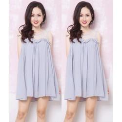 Đầm suông thiết kế phối ren đơn giản