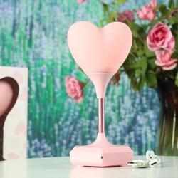 Đèn ngủ hình trái tim để bàn chất liệu cao su quà tặng độc đáo HL-025